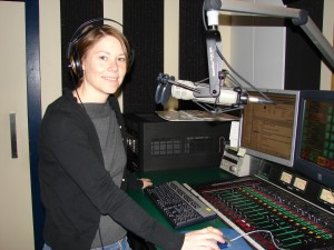 Jane working the early morning hours at 570News (circa 2009)